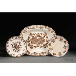 Three Portneuf Pottery Stick Spatter Items