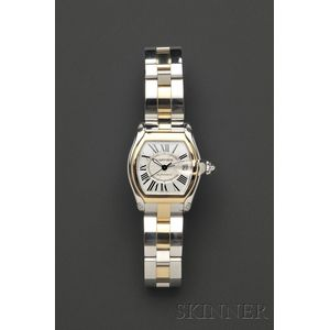 "Stainless Steel and 18kt Gold ""Roadster"" Wristwatch, Cartier"