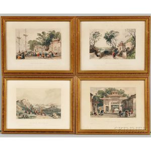 Thomas Allom (British, 1804-1872)      Set of Four Hand-colored Engravings
