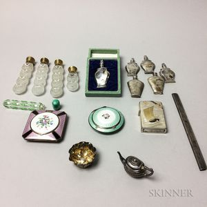 Group of Japanese Silver Perfumes and Accessories