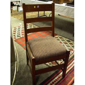 L. & J.G. Stickley Oak Ladder-back Side Chair.