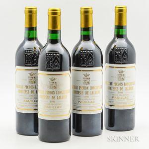 Chateau Pichon Lalande 1990, 4 bottles