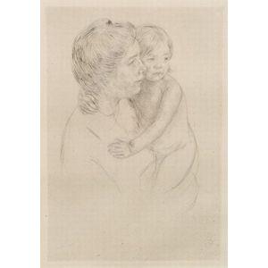 Mary Cassatt (American, 1844-1926)    Denise Holding Her Child