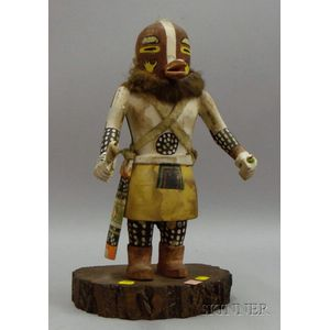 Native American Katsina Doll on Stand