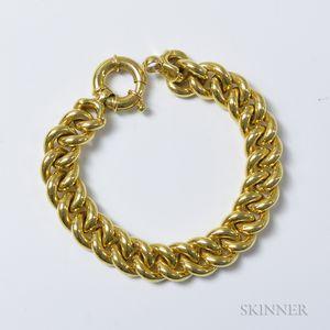 Italian 14kt Gold Curb-link Bracelet
