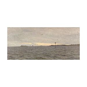 Charles Harold Davis (American, 1856-1933)  On the Sound, Noank, Connecticut