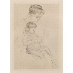Mary Cassatt (American, 1844-1926)    The Manicure