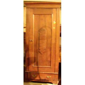 Late Victorian Walnut Wardrobe Cabinet