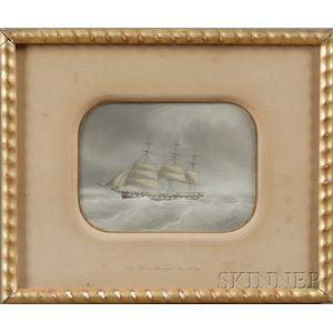 Eugene Grandin (French, 1833-1919)      Ship Charles Davenport  , Cap