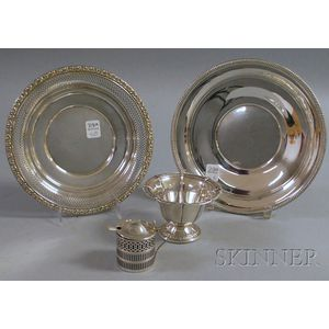 Group of Silver and Silver Weighted Serving Items