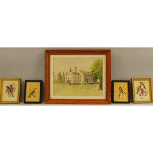 Five Assorted Framed Works