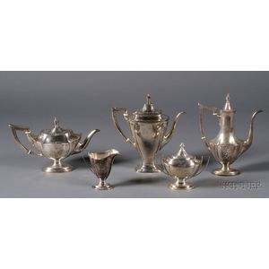 Assembled American Sterling Five Piece Tea and Coffee Set