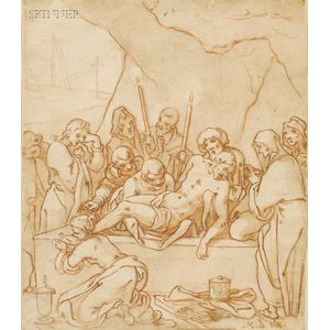 Manner of Martin de Vos (Flemish, 1532-1603)      Entombment of Christ