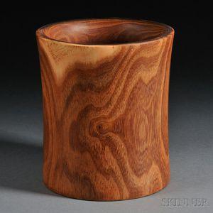 Large Hardwood Brush Pot