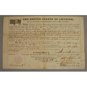 August 1, 1860 U.S. Land Grant for Military Service in the War of 1812