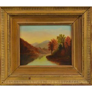 American School, 19th/20th Century      Autumn Landscape with Quiet River