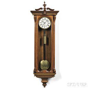 Walnut Vienna Thirty-day Wall Timepiece