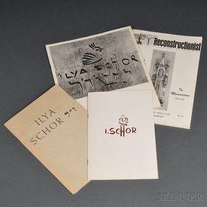 Four Ilya Schor Exhibit Catalogs and Periodicals