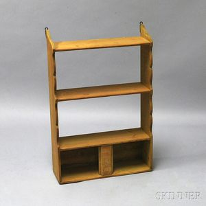 Yellow-painted Shaped-end Hanging Shelf