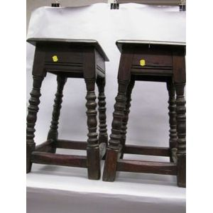 Pair of Oak Joint Stools.