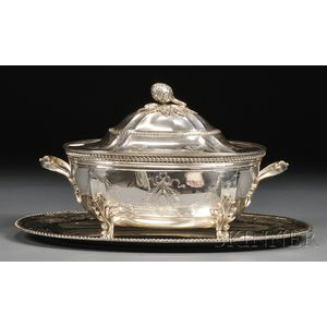 Continental Sterling Oval Tureen and Underplate