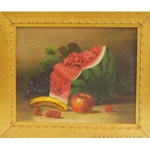 American School, 20th Century       Still Life with Watermelon.