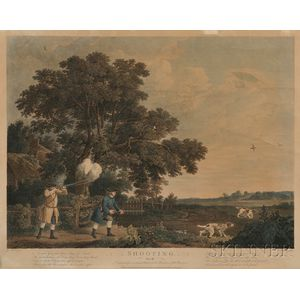 After George Stubbs (British, 1724-1806)      Lot of Four Prints: Shooting