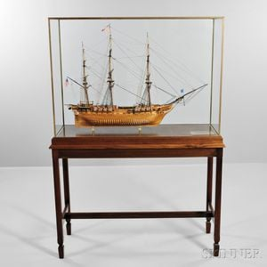 """Fine Scale Model of the USS Constitution   """"Old Ironsides,"""""""