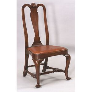 Queen Anne Walnut Carved Side Chair