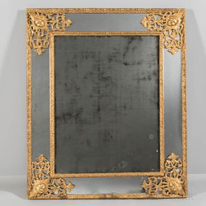 Rococo-style Giltwood and Gilt Composition Mirror