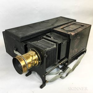 Cased Bessler Glass Plate Transparency Projector