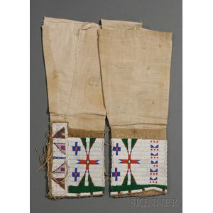Central Plains Beaded Hide and Cloth Woman