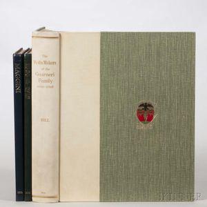 Three Books by W.E. Hill & Sons