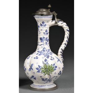 Tin-glazed Pottery Ewer