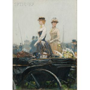 Childe Hassam  (American, 1859-1935)      At the Grand Prix