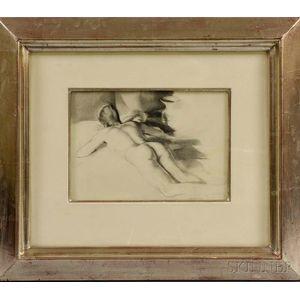 St. Julian Fishburne (American, 1927-2011)      Reclining Nude