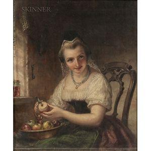 Daniel Huntington (American, 1816-1906)      Portrait of Katrina Van Tassel