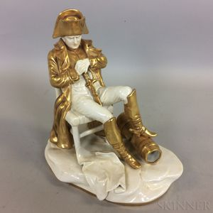 Continental Gilt Porcelain Figure of Napoleon