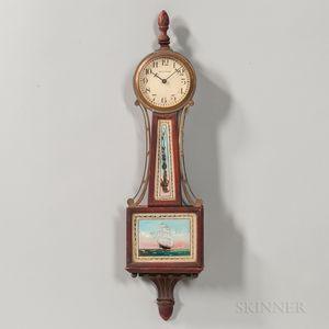 Miniature Waltham Banjo Clock