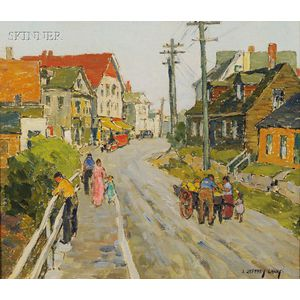 James Jeffrey Grant (American, 1883-1960)      Field Sketch  /A Gloucester, Massachusetts Landscape