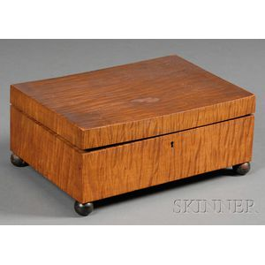 Tiger Maple Sewing Box