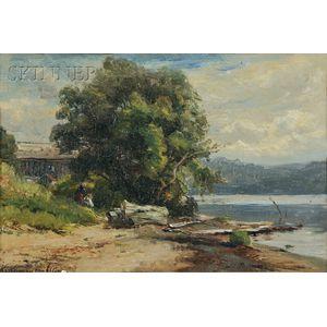 Hendrik-Dirk Kruseman Van Elten (American, 1829-1904)      Schroon Lake, Adirondacks, Warren, Essex County, New York