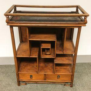Small Hardwood Display Cabinet