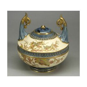 Royal Worcester Porcelain Mortuary Vase and Cover