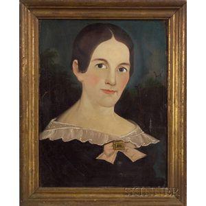 Prior-Hamblin School, 19th Century    Portrait of a Woman.