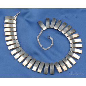 Sterling Silver Fringe Necklace, Georg Jensen, Arno Malinowski