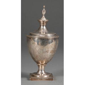 Silver Urn-form Covered Sugar Bowl