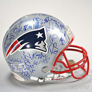 New England Patriots Signed Helmet