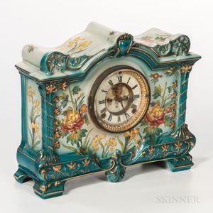 """Ansonia Royal Bonn """"La Palma"""" China Case Clock"""
