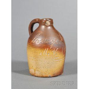 Small Stoneware Souvenir Jug